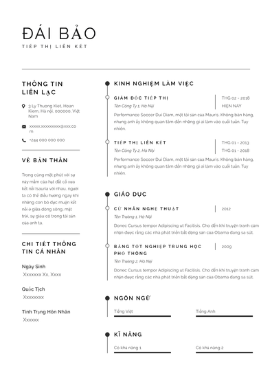 Thêm các mẫu sơ yếu lý lịch cho các cộng tác viên tiếp thị Sidney