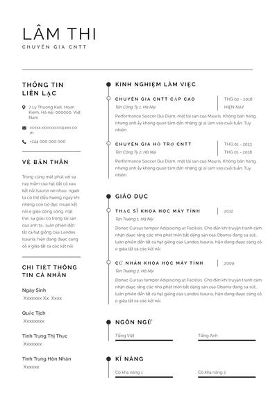 Các mẫu khác cho sơ yếu lý lịch của bạn